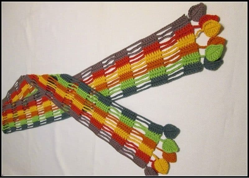 Rainbow and Dashes Scarf