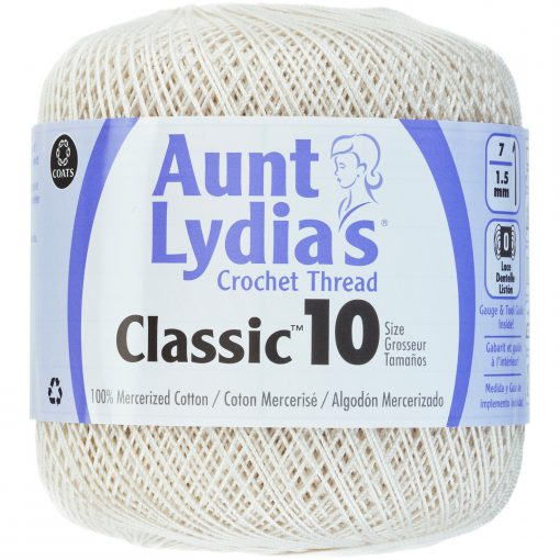 Aunt Lydia's Classic Crochet Thread Size 10-Antique White