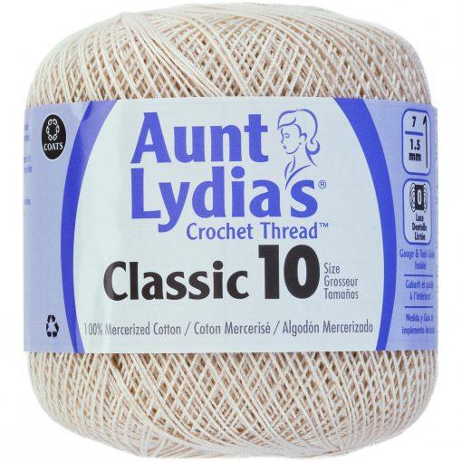 Aunt Lydia's Classic Crochet Thread Size 10-Ecru