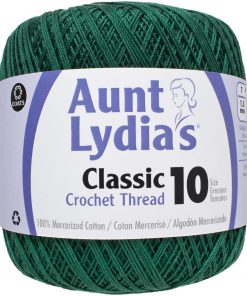 Aunt Lydia's Classic Crochet Thread Size 10-Forest Green
