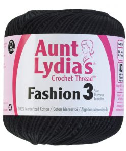 Aunt-Lydias-Crochet-Thread-Size-3-Black
