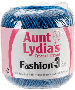 Aunt Lydia's Crochet Thread Size 3-Blue-Hawaii