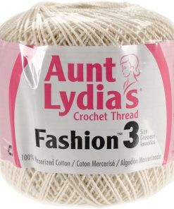 Aunt Lydia's Crochet Thread Size 3-Bridal-White