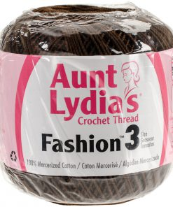 Aunt Lydia's Crochet Thread Size 3-Coffee