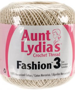 Aunt Lydia's Crochet Thread Size 3-Natural