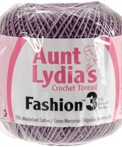 Aunt Lydia's Crochet Thread Size 3-Plum