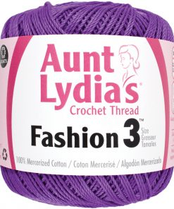 Aunt Lydia's Crochet Thread Size 3-Purple