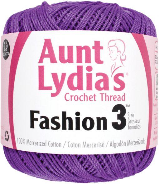 Aunt Lydia's Crochet Thread Size 3-Purple
