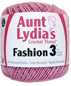Aunt Lydia's Crochet Thread Size 3-Warm-Rose