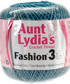 Aunt Lydia's Crochet Thread Size 3-warm-teal
