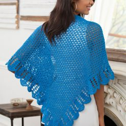 V-Stitch & Scallop Shawl Free Crochet Pattern