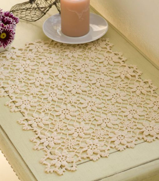 Apple Blossom Placemat Free Crochet Pattern