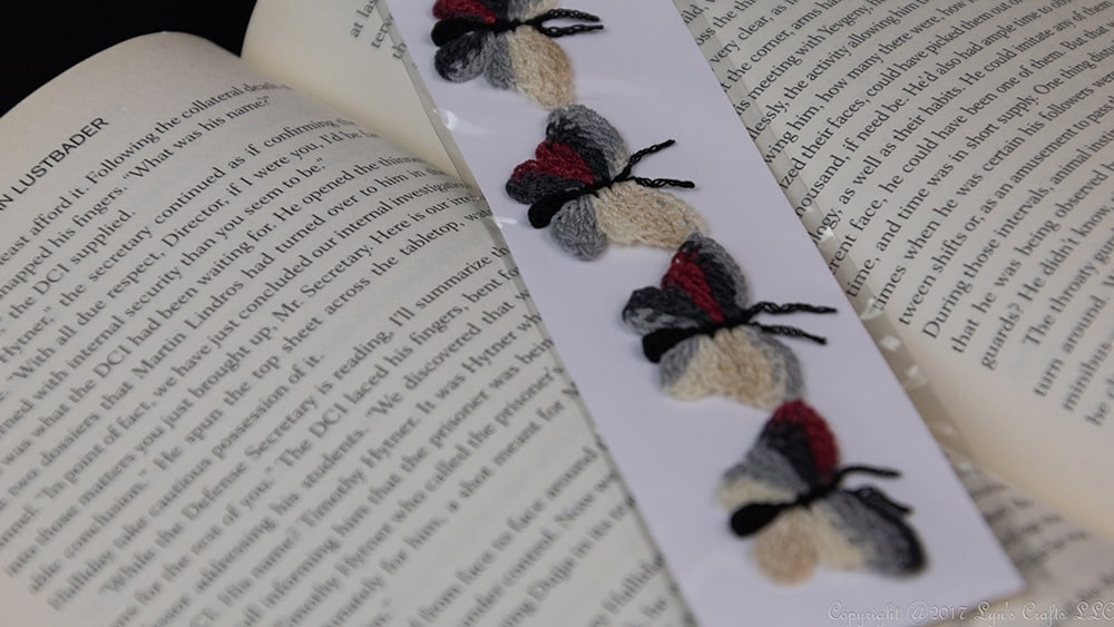 Lyn's Crafts Butter Fly Bookmark