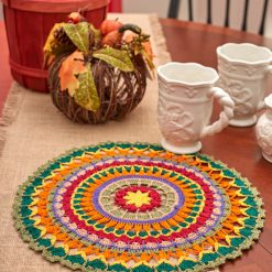 Mandala Doily Free Crochet Pattern for Aunt Lydias Classic Crochet Thread Size 10