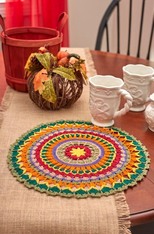Mandala Doily Free Crochet Pattern for Aunt Lydias Classic Crochet Thread Size 10