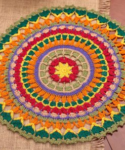 Mandala Doily Free Crochet Pattern for Aunt Lydias Class Cotton Crochet Thread Size 10
