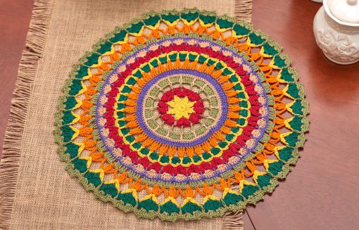 Mandala Doily Free Crochet Pattern for Aunt Lydias Class Cotton Crochet Thread Size 10