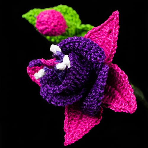 Fuchsia Flower Pattern Made with Lyn's Crafts Monaco Cotton Crochet Thread