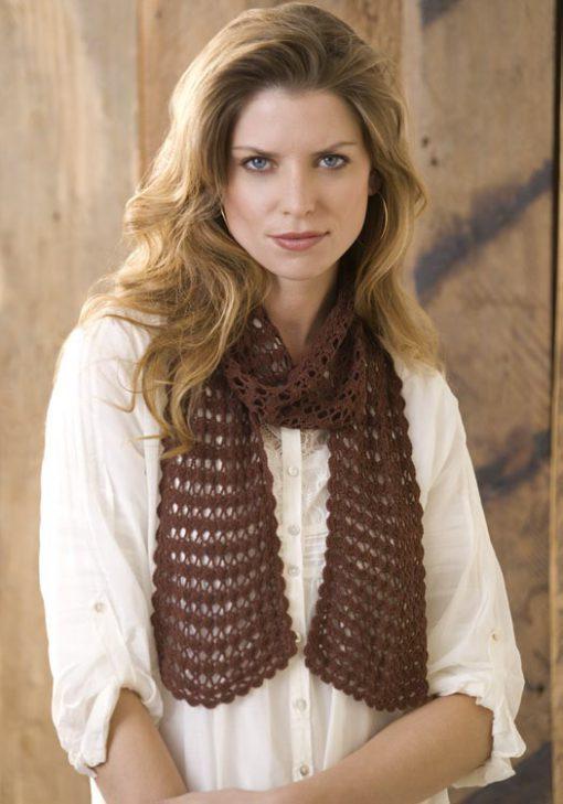 Sensational Lacy Scarf Free Crochet Pattern