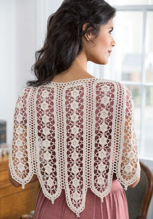 Wild-Rose-Shawl Free Crochet Pattern