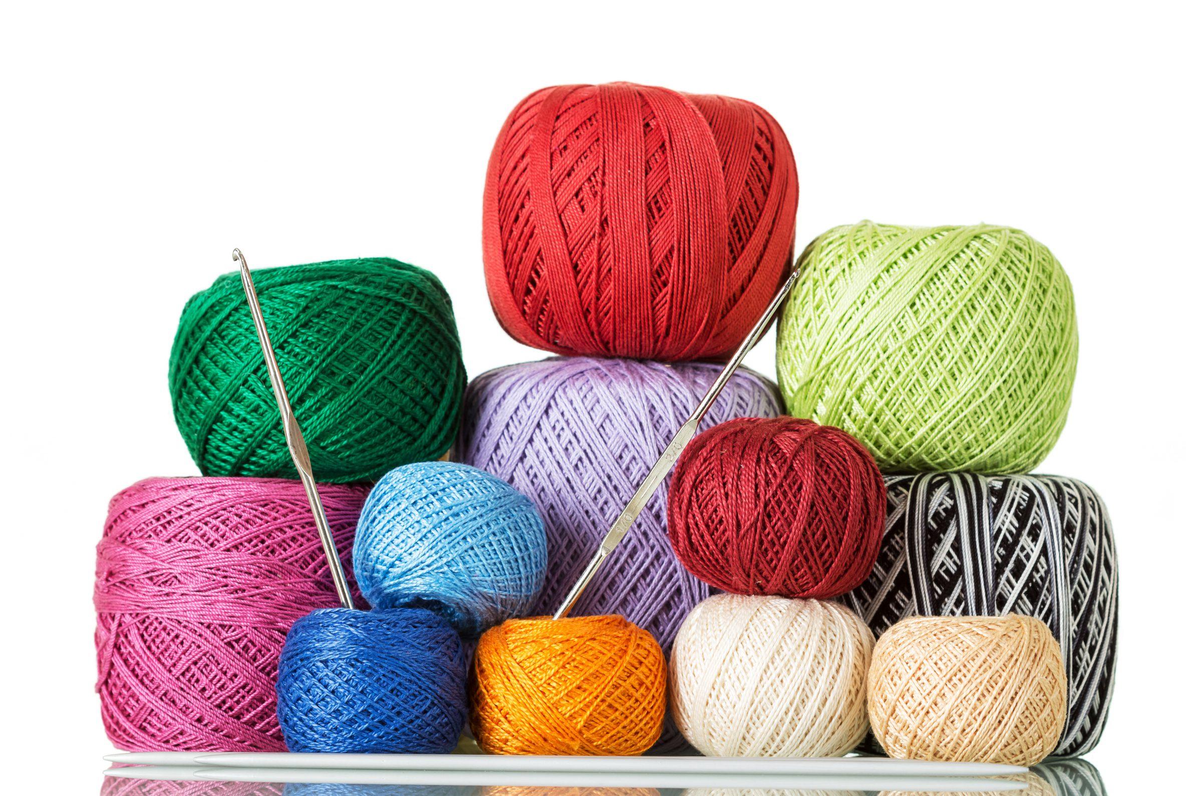 Crochet Thread on white background