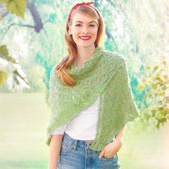 Patons Pastoral Lace Knit Shawl Free Knitting Pattern